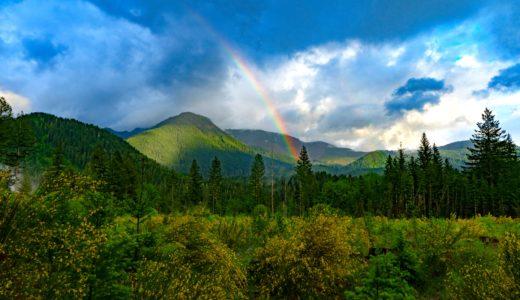 311宮城と福島、青森に虹がかかった